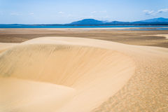 Sand dunes and lake Royalty Free Stock Photography