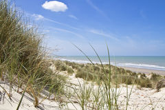 Sand dunes Landscape and Sea Stock Photography