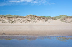 Sand dunes landscape Royalty Free Stock Images