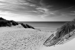 Sand Dunes, Le Touquet Paris Plage,  FRANCE Stock Photos