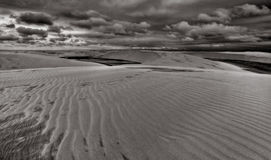 Sand Dunes, Lencois B&W Royalty Free Stock Photography