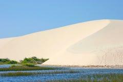 Sand dunes of the lencois maranhenses, Brazil. Landscape of the natural park Lencois Maranhenses Royalty Free Stock Image