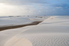 Sand dunes of the Lencois Maranheses in Brazil Royalty Free Stock Images