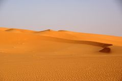 Sand dunes, Libya Stock Photography