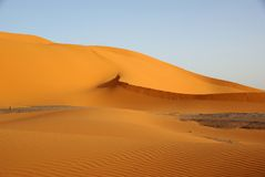 Sand dunes, Libya Royalty Free Stock Images