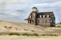 Sand Dunes,Life Saving House, Outer Banks Stock Photos