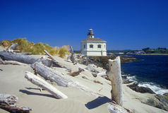 Sand dunes and lighthouse Royalty Free Stock Photos
