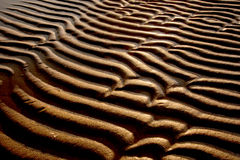 Sand dunes on low tide. Stock Photo