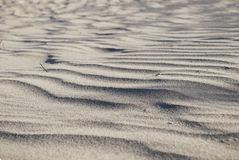 Sand dunes of the Maspalomas desert, Gran Canaria, Spain. Royalty Free Stock Photography