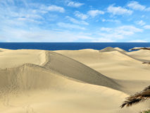 Sand dunes Maspalomas of Gran Canaria, Stock Image