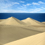 The Sand dunes Maspalomas of Gran Canaria, Canary Islands Stock Photography