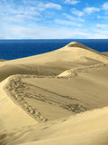 The Sand dunes Maspalomas of Gran Canaria, Canary Islands Royalty Free Stock Photos