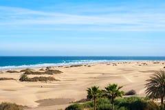 Sand dunes of Maspalomas. Gran Canaria. Canary Islands. Stock Images