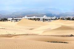 Sand dunes of Maspalomas. Gran Canaria. Canary Islands. Royalty Free Stock Photography