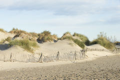 Sand Dunes on the Mediterranean Sea Stock Photography