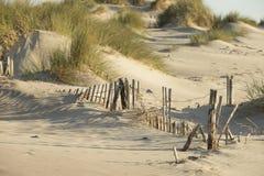 Sand Dunes on the Mediterranean Sea Stock Photo