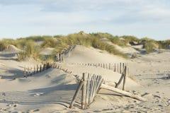 Sand Dunes on the Mediterranean Sea Royalty Free Stock Photos
