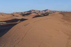 Sand dunes of Merzouga Royalty Free Stock Photography