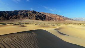 Mesquite Flats Sand Dunes and Mountains, Death Valley National Park, California Royalty Free Stock Photography