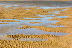 Sand dunes with mini flooded areas Royalty Free Stock Image