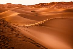 Sand dunes, Morocco  Royalty Free Stock Photography