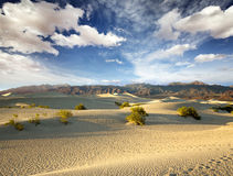 Sand dunes and mountain range Royalty Free Stock Photography