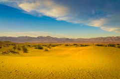 Sand Dunes And Mountains Royalty Free Stock Photo