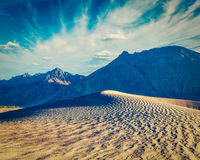 Sand dunes in mountains Royalty Free Stock Image