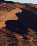 Sand dunes in the Namib Desert in Namibia Stock Image