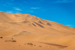 Sand dunes in the Namib desert.Sand dunes in the Namib desert. Sand dunes in the Namib desert, Namibia Stock Photography