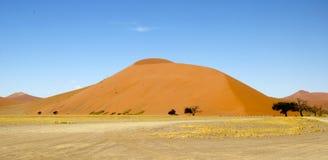 Sand dunes of Namibia. Sand dunes of Sossusvlei in Namibia Royalty Free Stock Image
