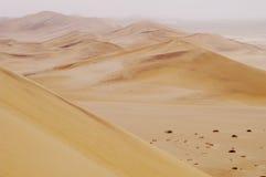 Sand dunes in Namibian desert Royalty Free Stock Images