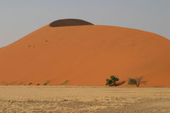 Sand dunes in Namibian desert. Scenic view of large sand dune in Namibian desert, Africa royalty free stock photography