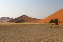 Sand dunes in Namibian desert Stock Image