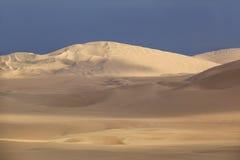 Sand dunes near Huacachina, Ica region, Peru. Royalty Free Stock Photo