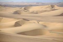 Sand dunes near Huacachina, Ica region, Peru. Royalty Free Stock Photography