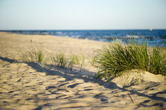 Sand dunes near to the sea Stock Photo