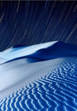 Sand dunes at night time Royalty Free Stock Photography