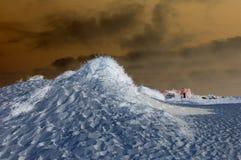 Sand dunes night view Stock Photos