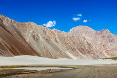 Sand dunes. Nubra valley, Ladakh, India Royalty Free Stock Image