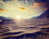 Sand dunes. Nubra valley, Ladakh, India Stock Images