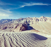 Sand dunes. Nubra valley, Ladakh, India Royalty Free Stock Photography