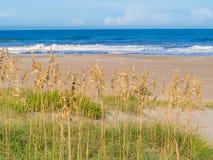 Sand dunes at the ocean coast Stock Photo