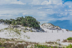 Sand dunes Okaloosa Island FL Royalty Free Stock Photography