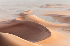 Sand dunes in Oman desert (Oman) Royalty Free Stock Photography