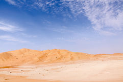 Sand dunes in Oman desert (Oman) Royalty Free Stock Images