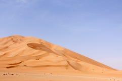 Sand dunes in Oman desert (Oman) Royalty Free Stock Photo