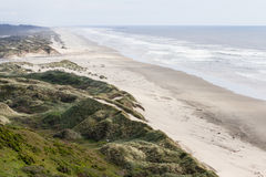 Sand dunes in the Oregon coast Stock Images