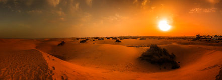 Sunset over sanddunes Royalty Free Stock Photography