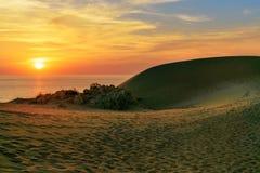 Sand dunes on Patara beach at sunset. Turkey Stock Image
